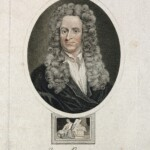 V0004254 Sir Isaac Newton. Coloured stipple engraving by R. Page, 181